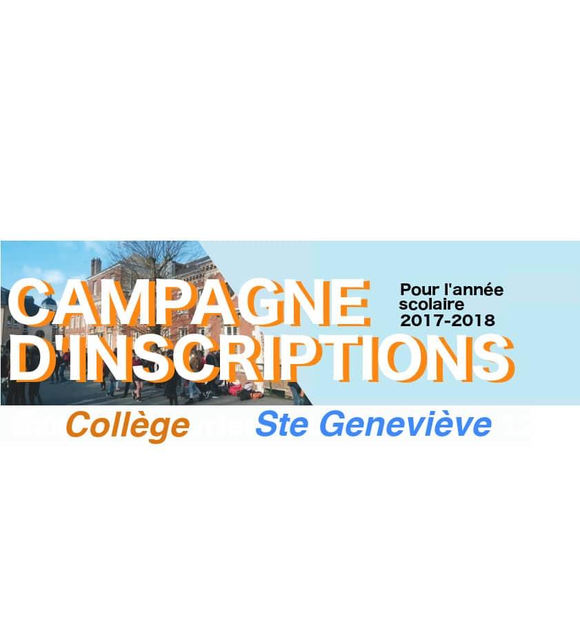 Campagne d'inscriptions 2017-2018
