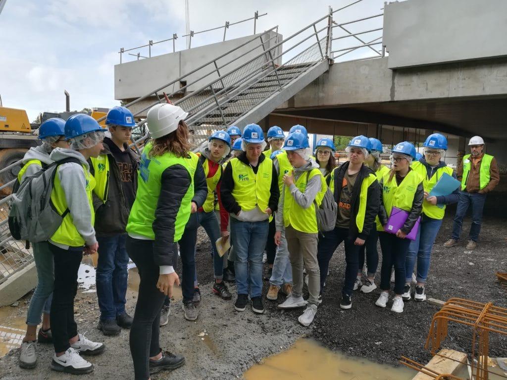 Visite d'un chantier du Bâtiment avec les 3C