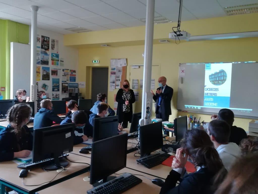 Intervention du Lycée et de l'UFA Jules Lecesne